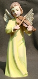 Angel with violin, wooden blank