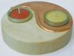 candle-holder Ying&Yang, wooden blank